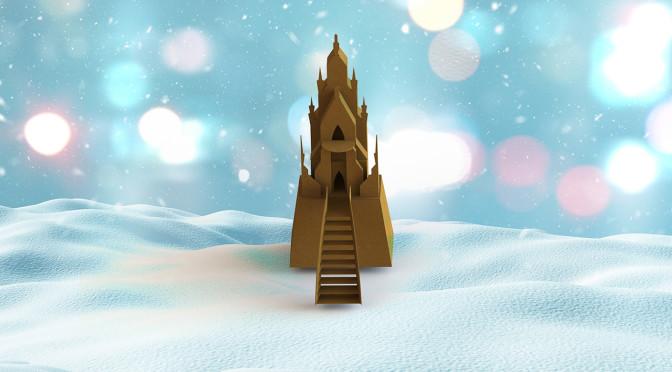 Piparkoogiloss: Elsa jääpalee / Gingerbread castle: Elsa's ice palace